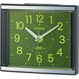 リズム時計 RHYTHM 目覚まし時計 グレー 4RL434-008 [アナログ /電波自動受信機能有]