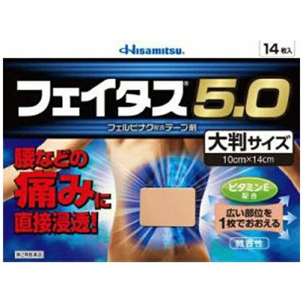 【第2類医薬品】 フェイタス5.0大判サイズ(14枚)★セルフメディケーション税制対象商品久光製薬 Hisamitsu