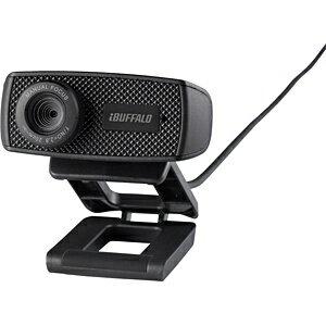 BUFFALO WEBカメラ[USB・120万画素] マイク内蔵(ブラック) BSWHD06MBK[BSWHD06MBK]