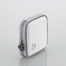 エレコム ELECOM CD/DVDファスナーケース[セミハード] 24枚収納 ホワイト CCD-H24WH[CCDH24WH]