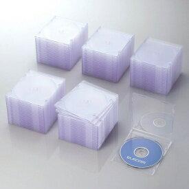 エレコム ELECOM CD/DVD/Blu-ray対応スリムケース 1枚収納×100 クリア CCD-JSCS100CR[CCDJSCS100CR]【rb_pcp】