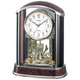 リズム時計 RHYTHM 置き時計 【パルアモールR658N】 茶 4RY658-N23 [電波自動受信機能有][4RY658N23]