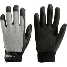 トラスコ中山 PU薄手手袋エンボス加工 グレー S TPUMGS