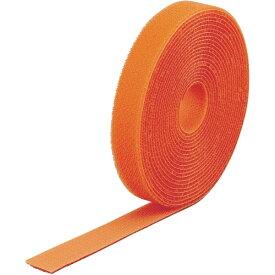 トラスコ中山 マジックバンド結束テープ 両面 幅20mmX長さ5m オレンジ MKT2050OR
