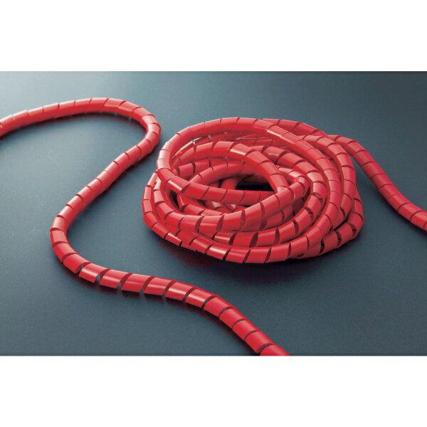 トラスコ中山 スパイラルチューブ10m 結束径6.0~30.0 赤 TSP8R