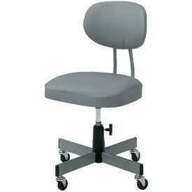 トラスコ中山 事務椅子 ビニールレザー張り グレー T80