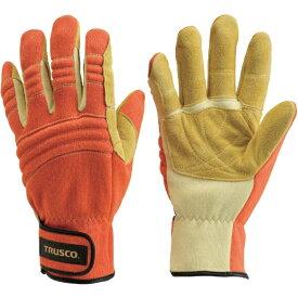 トラスコ中山 耐切創手袋(防災レスキュー仕様)L オレンジ TRF120LOR