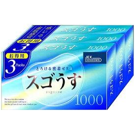 ジェクス JEX スゴうす100012個入り×3箱<コンドーム>〔避妊用品〕