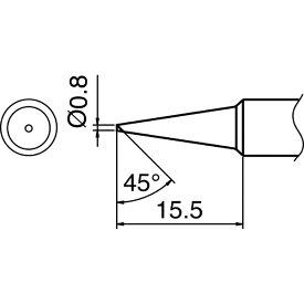 白光 HAKKO こて先 0.8C型 T18C08