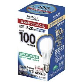 日立 HITACHI LDA11D-G/100C LED電球 [E26 /昼光色 /100W相当 /一般電球形 /広配光タイプ][LDA11DG100C]