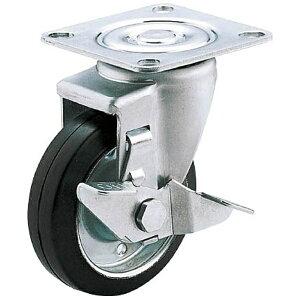 ユーエイキャスター YUEI CASTER 産業用キャスターS付自在車 100径ゴム車輪 SJ100WSP