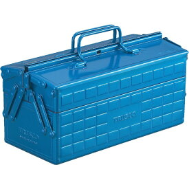 トラスコ中山 2段工具箱 350X160X215 ブルー ST350B