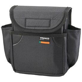 トラスコ中山 小型腰袋 二段フタ付 ブラック TC52BK