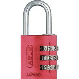 アバス ABUS ナンバー可変式南京錠 145-30 レッド 14530RE