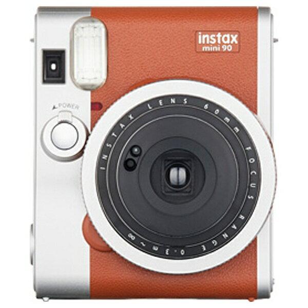 富士フイルム FUJIFILM インスタントカメラ instax mini 90 『チェキ』 ネオクラシック ブラウン[INSTAXMINI90BROWN]