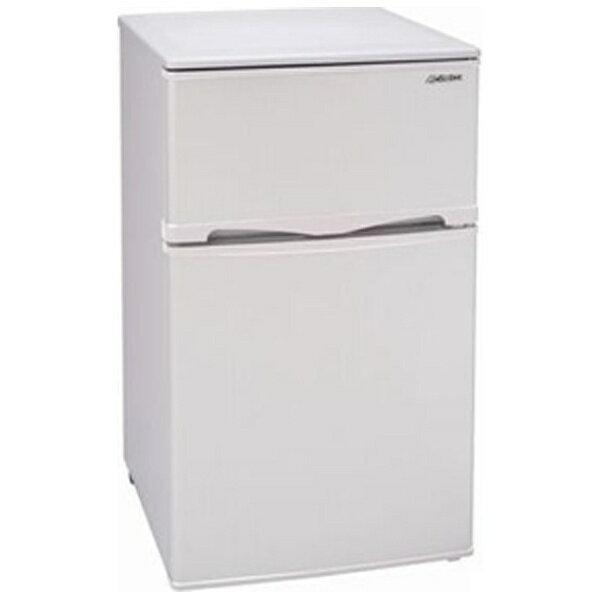 アビテラックス Abitelax 《基本設置料金セット》AR-100E-W 冷蔵庫 ノンフロン冷蔵庫 ホワイトストライプ [2ドア /右開きタイプ /96L][AR100EW 冷蔵庫 一人暮らし おすすめ 新生活 家電]
