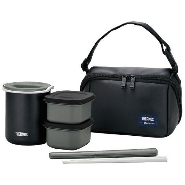 サーモス 保温弁当箱(茶碗1.8杯分) DBQ-362-MTBK マットブラック[DBQ362MTBK]
