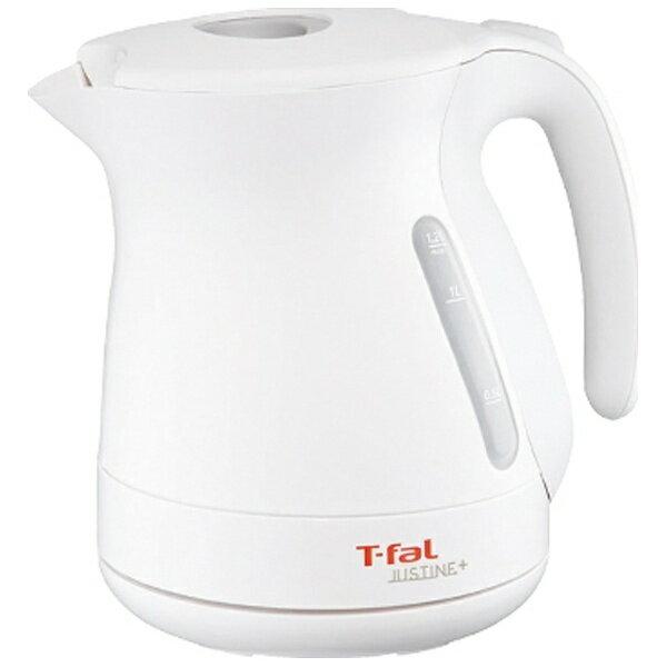 T-fal ティファール KO340175 電気ケトル JUSTINE+(ジャスティン プラス) ホワイト [1.2L][KO340175]【tket1023】【04】