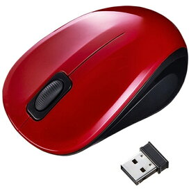サンワサプライ SANWA SUPPLY MA-WBL32R マウス レッド [BlueLED /3ボタン /USB /無線(ワイヤレス)][MAWBL32R]