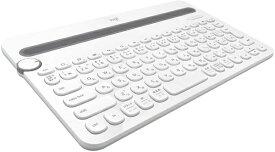 ロジクール Logicool 【スマホ/タブレット対応】ワイヤレスキーボード[Bluetooth・Android/iOS/Mac/Win/Chrome] マルチデバイスキーボード (84キー・ホワイト) K480WH[K480WH]