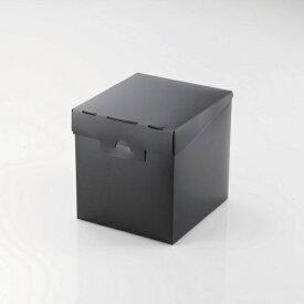 エレコム ELECOM CD/DVD対応組立式メディアケース収納ボックス 13枚収納 ブラック CCD-MB01BK[CCDMB01BK]