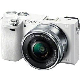 ソニー SONY ILCE-6000L-W ミラーレス一眼カメラ パワーズームレンズキット α6000 ホワイト [ズームレンズ][ILCE6000LW]