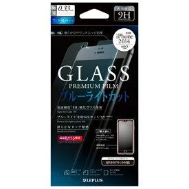 MSソリューションズ iPhone 6 Plus用 保護フィルム ガラス ブルーライトカット LP-IP65FGLBC