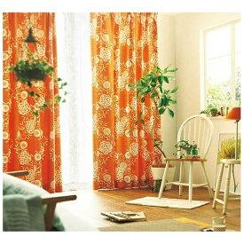 スミノエ SUMINOE ドレープカーテン ハナカザリ(100×135cm/オレンジ)【日本製】[V1251100X135]