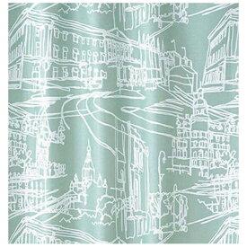 スミノエ SUMINOE ドレープカーテン マチナミ(100×200cm/ブルーグリーン)【日本製】[生産完了品 在庫限り][V1263100X200]