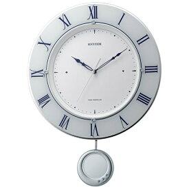 リズム時計 RHYTHM 掛け時計 【トライメテオ】 白 8MX402SR03 [電波自動受信機能有]