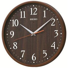 セイコー SEIKO 掛け時計 【ナチュラルスタイル】 濃茶木目模様 KX399B [電波自動受信機能有]