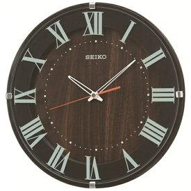 セイコー SEIKO 掛け時計 【ナチュラルスタイル】 濃茶 KX397B [電波自動受信機能有]