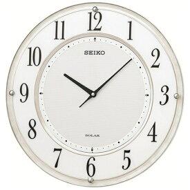 セイコー SEIKO 掛け時計 【ソーラープラス】 白マーブル模様 SF506W [電波自動受信機能有]