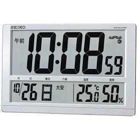 セイコー SEIKO 掛け置き兼用時計 銀色メタリック SQ433S [電波自動受信機能有][SQ433S]