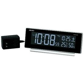 セイコー SEIKO 目覚まし時計 【シリーズC3】 銀色メタリック DL207S [デジタル /電波自動受信機能有][DL207S]