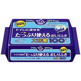 日本製紙クレシア crecia アクティ トイレに流せるたっぷり使えるおしりふき 100枚【rb_pcp】