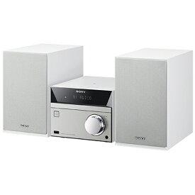 ソニー SONY 【ワイドFM対応】Bluetooth対応 ミニコンポ(ホワイト) CMT-SBT40 WC[CDコンポ CMTSBT40WC]