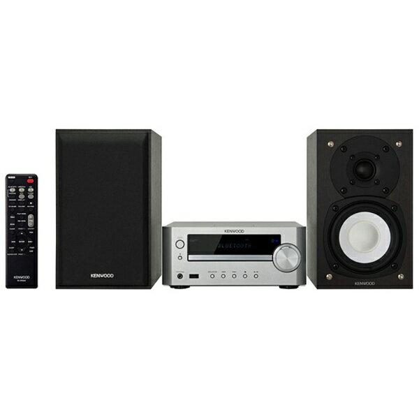 【送料無料】 ケンウッド 【ワイドFM対応】ミニコンポ(iPod・USB・CD対応)シルバー K-505-S[K505S]