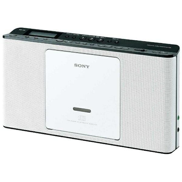 【送料無料】 ソニー 【ワイドFM対応】CDラジオ(ラジオ+CD)(ホワイト) ZSE80WC[ZSE80WC]