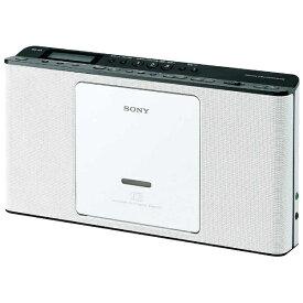 ソニー SONY CDラジオ ZS-E80 ホワイト [ワイドFM対応][薄型 コンパクト ZSE80WC]