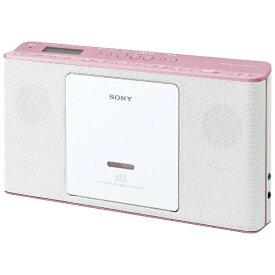 ソニー SONY CDラジオ ZS-E80 ピンク [ワイドFM対応][薄型 コンパクト ZSE80PC]