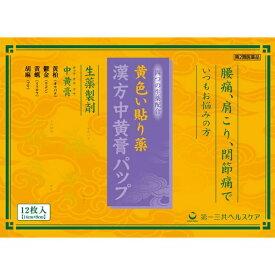 【第2類医薬品】 漢方中黄膏パップ (12枚)【wtmedi】第一三共ヘルスケア DAIICHI SANKYO HEALTHCARE