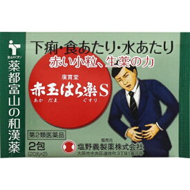 【第2類医薬品】 赤玉はら薬S(2包)〔下痢止め〕【wtmedi】廣貫堂