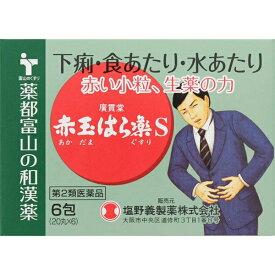 【第2類医薬品】 赤玉はら薬S(6包)〔下痢止め〕【wtmedi】廣貫堂