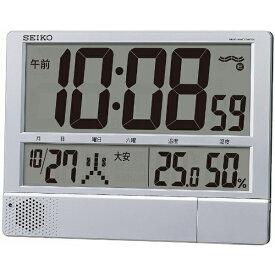 セイコー SEIKO 掛け置き兼用時計 【プログラムクロック】 銀色メタリック SQ434S [電波自動受信機能有][SQ434S]