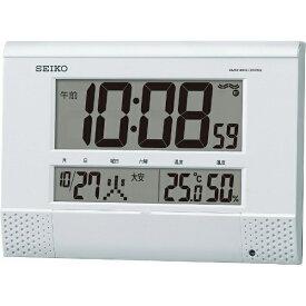 セイコー SEIKO 掛け置き兼用時計 【プログラムクロック】 白パール SQ435W [電波自動受信機能有][SQ435W]