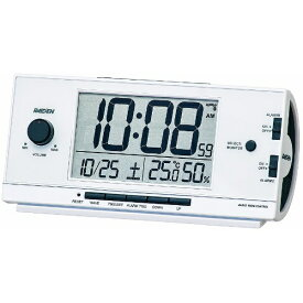 セイコー SEIKO 目覚まし時計 【RAIDEN(ライデン)】 白パール NR534W [デジタル /電波自動受信機能有][目覚まし時計 電波 大音量 デジタル]