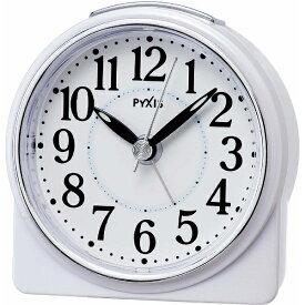 セイコー SEIKO 目覚まし時計 PYXIS 白パール NR439W [アナログ][NR439W]