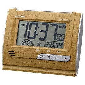 リズム時計 RHYTHM 目覚まし時計 【フィットウェーブD165】 茶 8RZ165SR07 [デジタル /電波自動受信機能有]