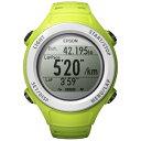【送料無料】 エプソン EPSON GPS機能搭載ウオッチ 「WristableGPS」 SF-110G(グリーン)[SF110G]